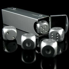 Silver Aluminium Alloy Poker Solid Dominoes Dice Games Portable Dice Poker Party