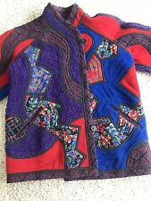 Koos Van Den Akker Patchwork Wool Reversible Designer Jacket Couture Quilted Art