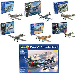 Revell Model Kits WW2 Aircraft Military Planes British German USA Craft Kit 1:72