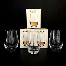 The Oban Whisky Glass Set of 3 Original Boxes Barware Tasting Nosing