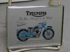 RARE 1950's TRIUMPH FACTORY DEALER MIRROR PAPERWEIGHT