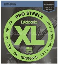 D'Addario EPS165-5 Pro Steel Long Scale 5 String Bass Guitar Strings 045 - 135
