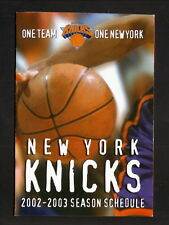 New York Knicks--2002-03 Pocket Schedule--Budweiser
