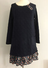 BNWT JOE BROWNS navy EASY LIVING knittedTUNIC JUMPER DRESS ditsy floral ruffles