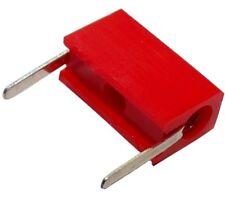2x Fiche prise banane femelle rouge 2mm 6A 10.25mm PCB