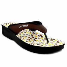 63a3a970f Aerosoft Flip Flops Sandals Spring Brown Soft Aerothotic Comfort Heel A0857