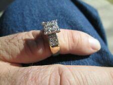 ctw gold diamond wedding ring size 6.75 7.2 gram 14 k yellow 1.125 carat