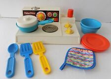 Vintage Fisher Price 1978  Kitchen Set Magic Burner Stove Dishes #919