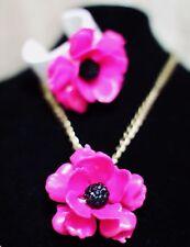 kate spade bracelet & necklace set CUFF florence broadhurst HUGE LUCITE FLOWER