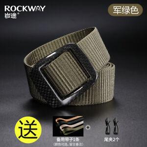 Men carbon fiber Buckle Nylon Belt Simple Waistband Business Belt