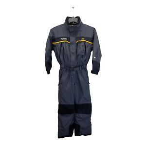 Columbia Tectonite One Piece Snow Ski Suit Gray Black Yellow Youth size 10/12