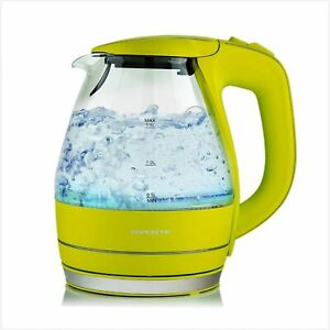 Ovente Portable Electric Glass Kettle 1.5 Liter With Blue Led Light And Sta…