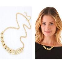 Charm Double Chains Halskette Vergoldete Kreise Kragen Anhänger Halsketten    xj