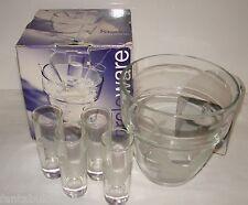Circleware 5 Piece Glass Set - Kiev Vodka Shots Glasses w Chiller Nib