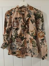 Ladies Zara Women Blouse Top Floral Size Small