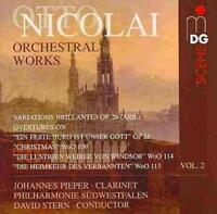 OTTO NICOLAI: ORCHESTRAL WORKS, VOL. 2 USED - VERY GOOD CD