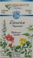 Licorice Peppermint Tea by Celebration Herbals, 24 tea bag Organic