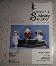 34. Wormser Spielzeug Auktion, 28.02 1997 & 01. 03. 1997 Spielzeug Katalog