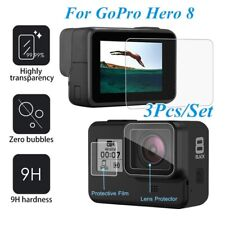 3Pcs For GoPro Hero 8 Tempered Glass Screen+Lens Protector Film+Display Film 2h
