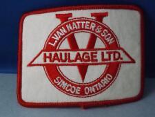 L VAN NATTER & SON HAULAGE LTD SIMCOE ON PATCH EMPLOYEE TRUCKING VINTAGE TRUCKER