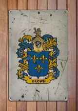 Livingston Coat of Arms A4 Aged Retro 10x8 Metal Sign Aluminium Heraldry