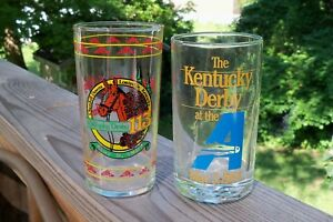 1987 KENTUCKY DERBY GLASS FROM HOLLYWOOD PARK