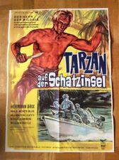 Tarzan auf der Schatzinsel (Kinoplakat ´62) - Hermann Brix