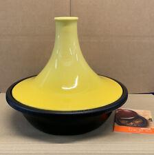 Le Creuset Cast Iron and Stoneware Tagine - 35cm / 4.5L Soleil/Black ( New)