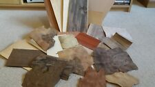 Box of wood veneer offcuts. Great for crafts, models, hobbies, marquetry.