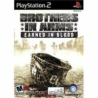 Brothers In Arms Earned In Blood For PlayStation 2 PS2 Shooter Very Good 9E