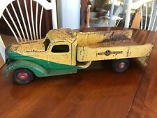 BUDDY L ice Truck 1930's Yellow & Green pressed steel toy Truck Original