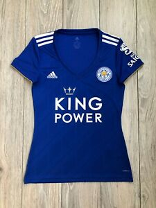 Leicester City 2018-2019 Home Women's Lady Soccer Adidas Jersey Shirt size S