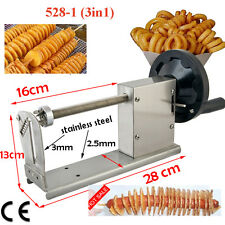 Commercial Manual Spiral Potato Chips Curly Fries Twist Hot Dog Cutter Slicer