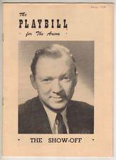 "Lee Tracy  Playbill  ""The Show Off""  1950  FLOP  Carmen Mathews, Jane Seymour"