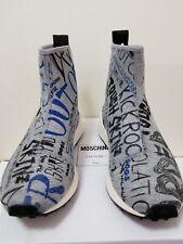 New Moschino Men Graffiti Neoprene Textile High-Top sneakers Size EU 42 / US 9
