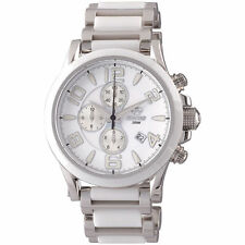 Reactor Watch Ladies 67005 Oxide Chronograph White Dial Stainless/White Ceramic