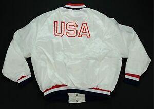 Rare Vintage HILTON ARA USA Olympic Team 1992 Satin Jacket 90s White NWT SZ 2XL