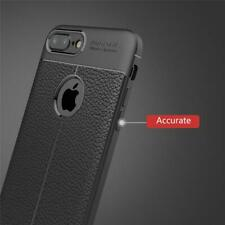 Case For iPhone 7/8 Plus X XS Max XR Leather Look Soft TPU anti Slip Cover skin