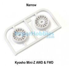 Llanta estrecha blanca Offset 2.5 (2 Uds.) Kyosho Mini-Z AWD / FWD MDH100W-N25
