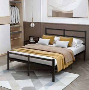 King Size Bed Frame/ Metal/ Black