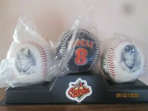 Brand New 1995 Cal Ripken 3 Photo Ball Set With Bonus Game