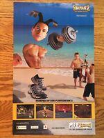 Rayman 2 Revolution PS2 Playstation 2 2001 Vintage Poster Ad Print Art Funny! PS