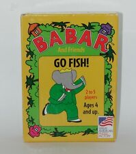 Babar and Friends Go Fish! Great Aerican Puzzle Company COMPLETE