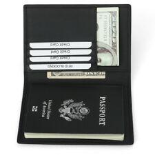 RFID Blocking Genuine Leather Passport Holder ID Case Credit Card Wallet Purse