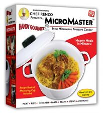 Micromaster Kitchen Microwave Pressure Cooker 2-1/2 Qt Convection Cook Meals NEW