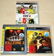 3 PLAYSTATION 3 PS3 SPIELE SAMMLUNG FIFA 12 KILLZONE 2 RESIDENT EVIL 5 GOLD
