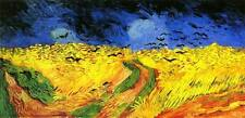 Stunning Oil painting Crows fly Catcher Van Gogh landscape canvas