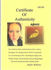 #AB1103.  ABORIGINAL ART - SMALL  EMU  BY ANGELA BLAKENEY WITH C.O.A.