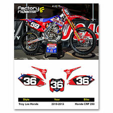 2010-2013 HONDA CRF 250 Dirt Bike Graphics Motocross Custom Number Plates TLD