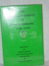 Granville District NC Land Office Record Margaret Hofmann Vol 4 Genealogy Books